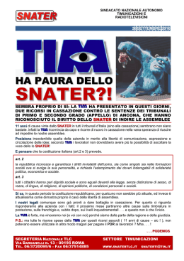 ha paura dello - Snater TLC Liguria