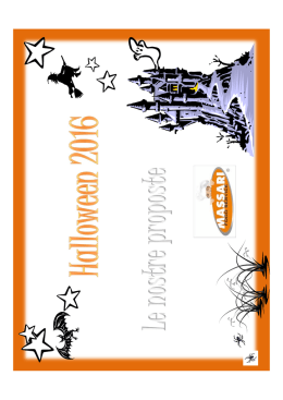 flyer halloween 2016 - Massari Food Service