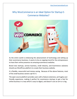Why WooCommerce is an Ideal Option for Startup E-Commerce Website