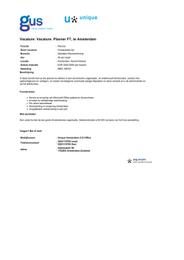 GUS.nl - Vacature: Planner FT