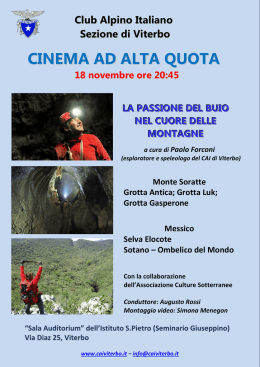 cinema ad alta quota - Viterbo