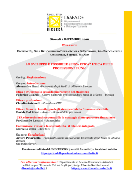 locandina programma - University of Milano