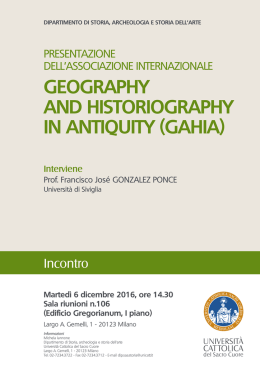 Locandina A3 Geography and Historiography in Antiquity.indd