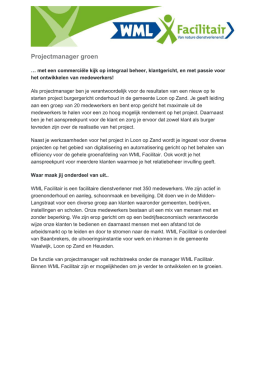 Projectmanager groen