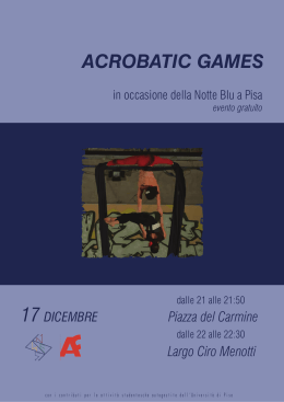 acrobatic games - Università di Pisa