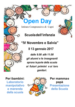 Open Day - nievocapri.it
