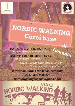 nordic walkingcorso base