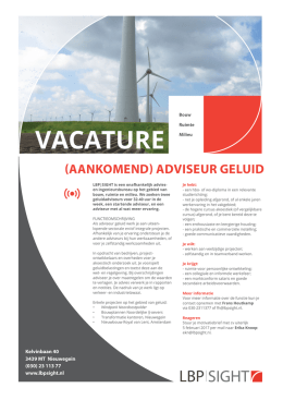vacature - LBP Sight