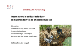 Internationale solidariteit door stimuleren fair trade