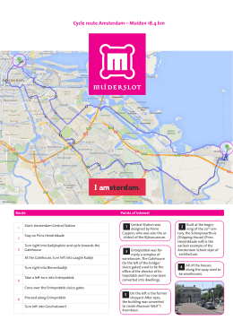 Cycle route Amsterdam – Muiden 18.4 km