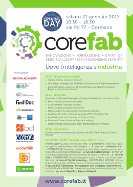 Dove l`intelligenza s`industria www.corefab.it