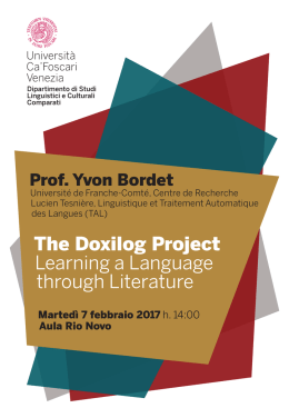 The Doxilog Project Learning a Language through Literature