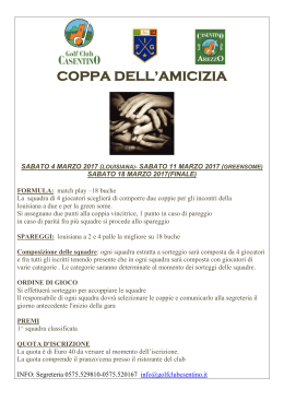 coppa dell`amicizia - Golf Club Casentino