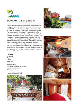 OUT01079 - Villa in Buzanada