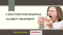 5 Solution for Seasonal Allergy Treatment
