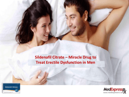 Sildenafil Citrate : Perfect Solution for ED