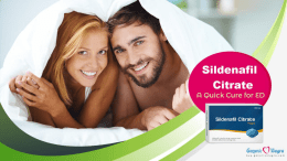 Sildenafil Citrate- An Instant Cure For ED
