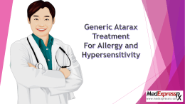 Generic Atarax Treatment For Allergy and Hypersensitivity