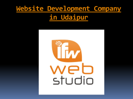 Website Development Company in Udaipur