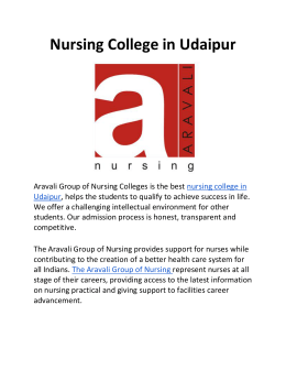 Nursing College in Udaipur