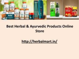 Online Herbal and Ayurvedic Products by Herbal Mart