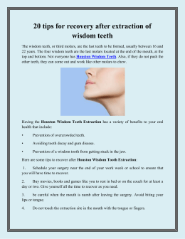20 tips for recovery after extraction of wisdom teeth