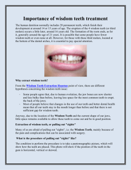 Importance of wisdom teeth treatment